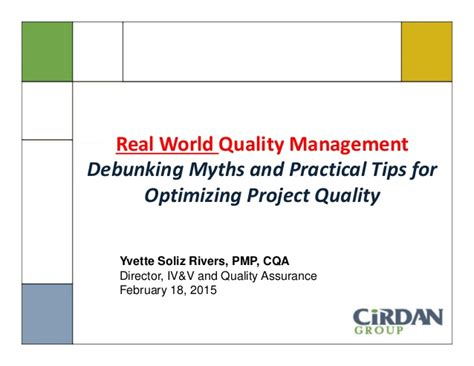 practical monitoring effective strategies for the real world books yvette rivers presents real world quality management