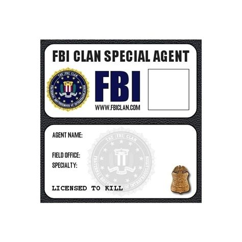 fbi card template fbi badge liked on polyvore featuring supernatural