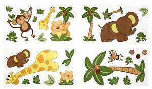 nojo jungle babies wall decals free shipping pics photos jungle animal wall decals stickers baby room