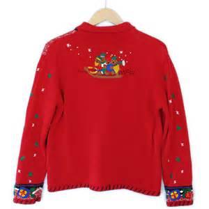 Teddy Sweater teddy toboggan tacky sweater the sweater shop