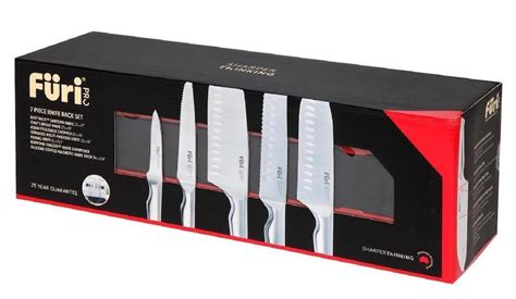 Furi Kitchen Knives by Furi Pro Stainless Steel 7 Piece Magneitc Wall Knife Set