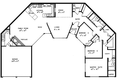 u shaped houses 2 bedroom carnaby creek contemporary home plan 085d 0280 house