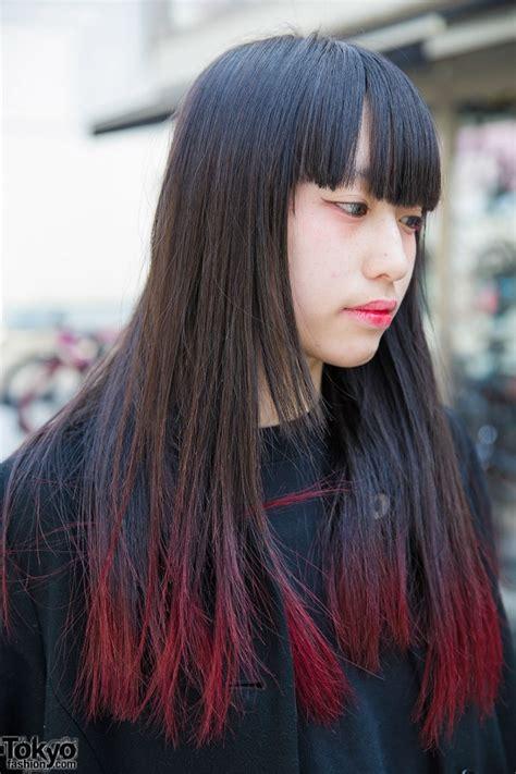 harajuku girl  pink dip dye maxi coat white heeled