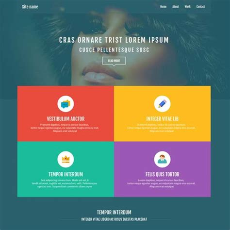 flat design template psd 50 best free psd website templates 2017 freshdesignweb