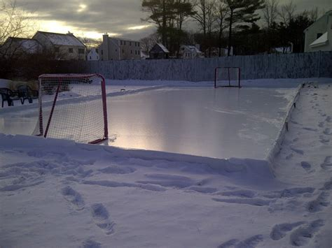 backyard hockey rink build your own backyard ice rink boston dad approved tips