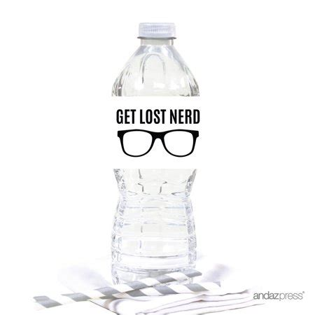 Funny Water Bottle Labels farewell retirement decorations get lost
