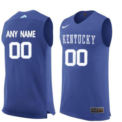 customized jersey ncaa basketball new kentucky wildcats blue men s customized college