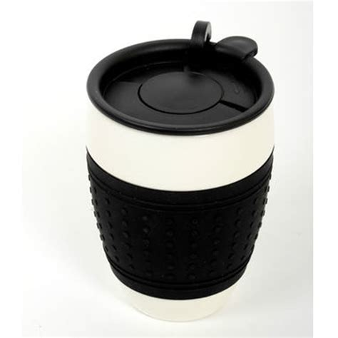 I'M NOT A PAPER CUP CERAMIC ECO THERMAL INSULATED TRAVEL MUG CUP SILICON LID   eBay