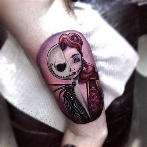 jack and sally tattoos and sally nightmare before nightmare