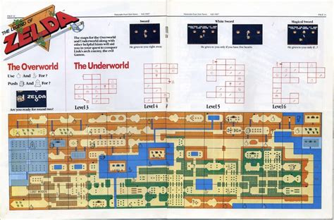 legend of zelda map nes walkthrough vgjunk the legend of zelda map from nintendo fun club