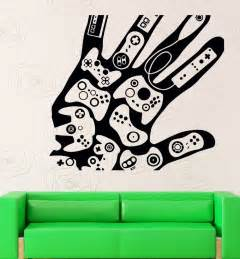 Video Game Wall Stickers creative hand video games gamer xbox playstation mural wall sticker