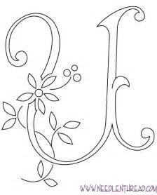 u design embroidery monogram for hand embroidery letter u needlenthread com