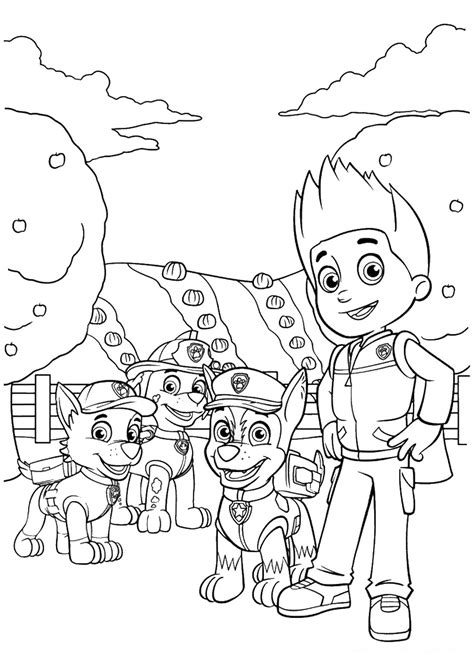 paw patrol thanksgiving coloring pages to print free coloring pages of paw patrol precious