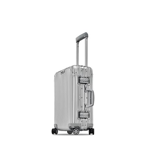 rimowa cabin luggage rimowa topas cabin multiwheel 174 32 0l silver carry on luggage