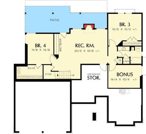 budget bungalow 21977dr 1st floor master suite cad charming bungalow on a budget 6964am 1st floor master