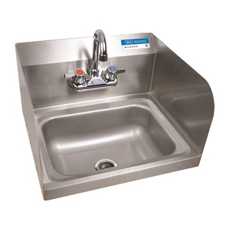 restaurant washing sink bk bkhs w 1410 ss p g wash sink side splash