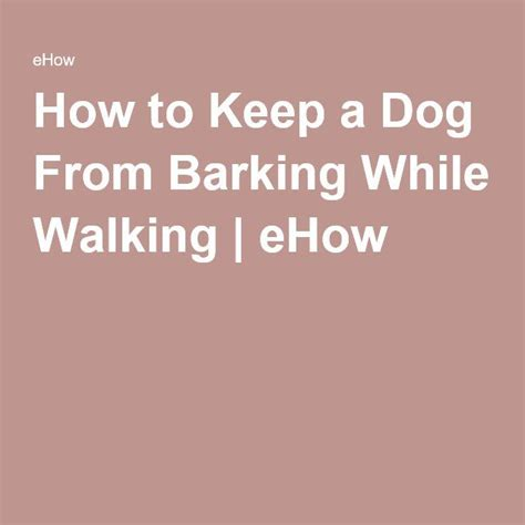 How To Keep Dog From Barking | how to keep a dog from barking while walking barking f c