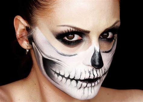 tutorial di makeup per halloween trucchi per un look skull halloween tutorial trucco con teschio beautydea