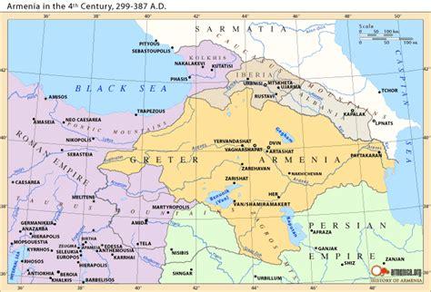 map of armenia kingdom of armenia map