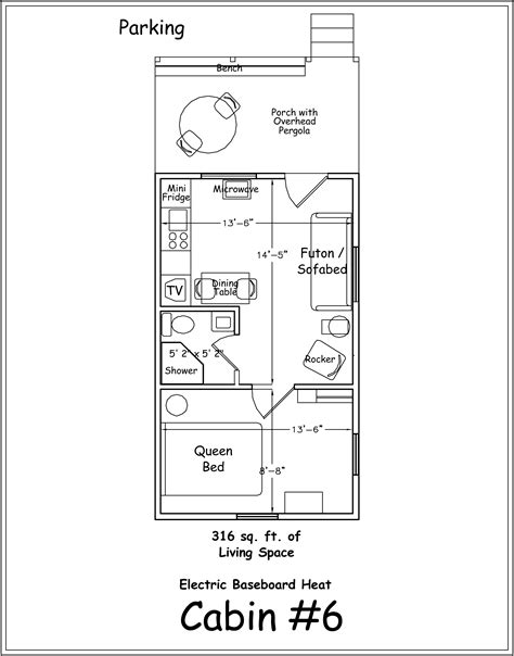 one room cabin floor plans one bedroom cottage floor plans