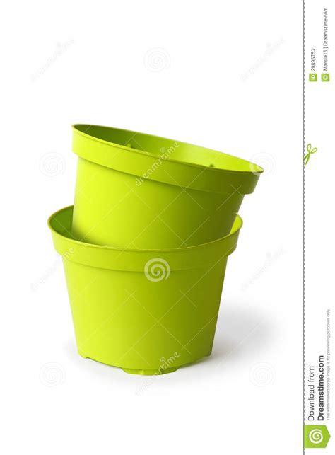 Plastic Plant Containers Two Plastic Plant Pots Stock Photos Image 29895753