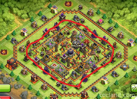 coc th10 farming base layout hypercube x 275 walls th10 farming base layout clash