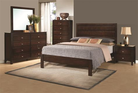 cameron 203491 5pc bedroom set in brown by coaster w options