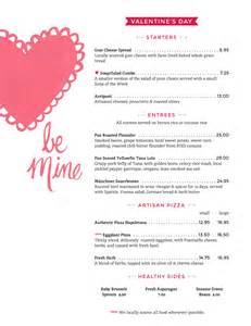 valentines day menu template the world s catalog of ideas