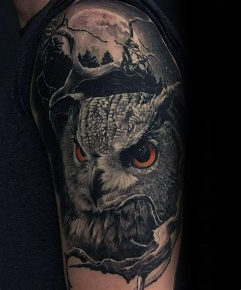 owl half sleeve tattoo 50 owl sleeve tattoos for nocturnal bird design ideas