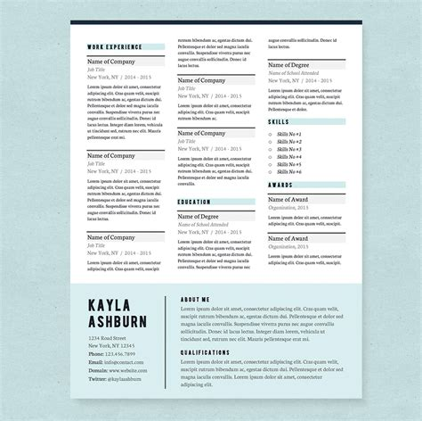 stylish resume templates free stylish blue resume template pkg resume templates on