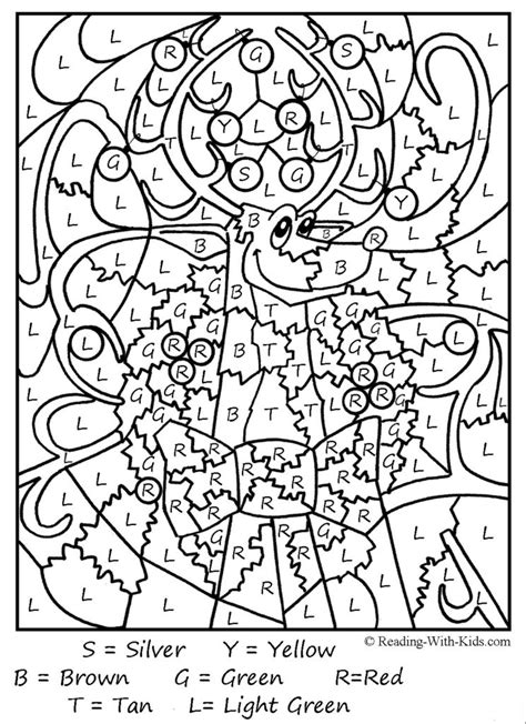 free holiday color by number coloring pages coloring pages free color by number printables for adults