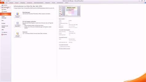 Powerpoint Design Als Vorlage Speichern Powerpoint 2010 Bildschirmpr 228 Sentation Speichern Tutorial