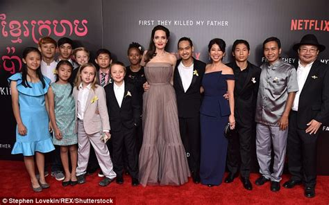 angelina jolie quot first they killed my father quot press angelina jolie accompanies kids to premiere in nyc daily