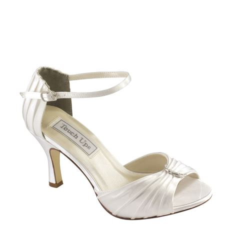 dyeable touch ups shoes robin in white bridal evening prom