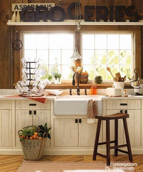 Cozy inviting design characterizes country kitchens here is
