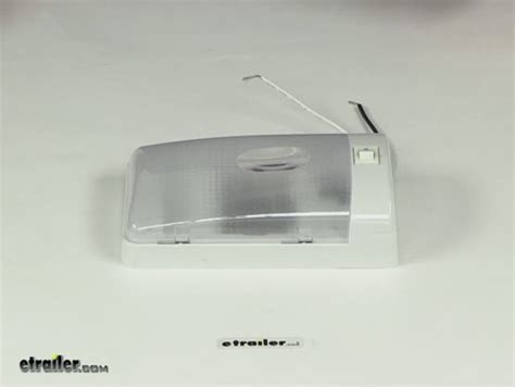 rv style interior single ceiling light with built in