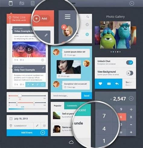 free flat ui kits to boost your designs in no time part 1