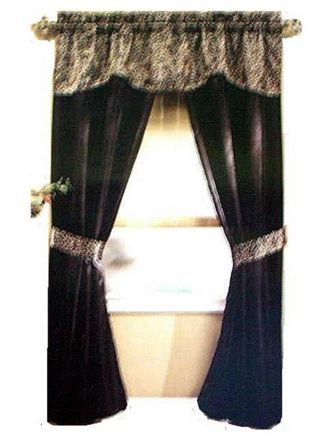 black print curtains black leopard print complete window curtains set