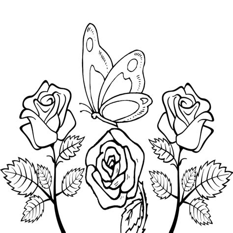 disegni con farfalle e fiori farfalle da colorare e ritagliare