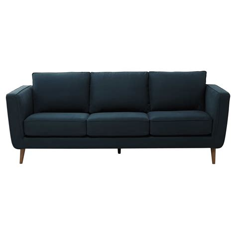 peacock sofa 3 4 seater kendo fabric sofa in peacock blue nils