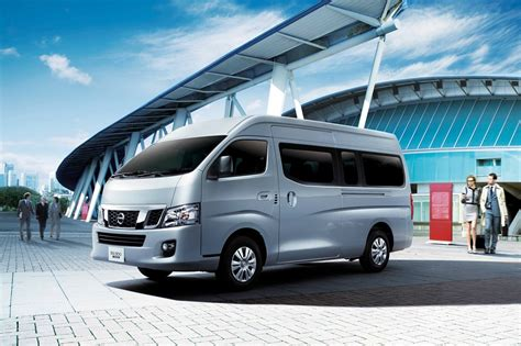 nissan urvan nissan nv350 urvan updated with new safety features for