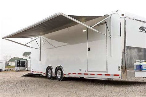 race car trailer awnings awning for cer trailer 28 images image gallery trailer awnings race car 40ft