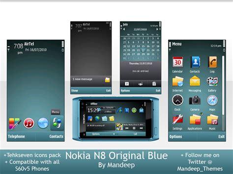 nokia e63 themes original nokia n8 blue theme by mandeep for s60v5 mobis60v5 s blog
