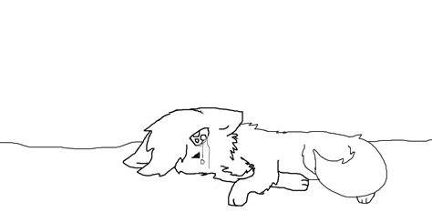 dieing cat or sad cat base by neoncandylights on deviantart