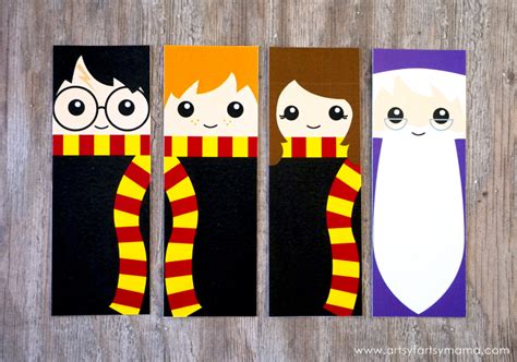 printable bookmarks harry potter free printable harry potter bookmarks artsy fartsy mama