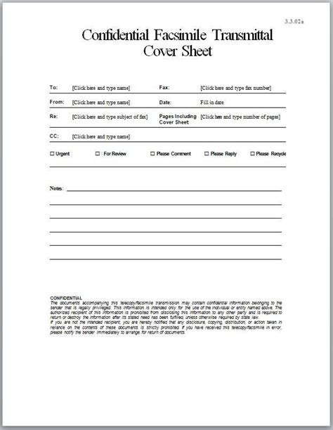 Confidential Cover Sheet Template by Confidential Fax Cover Sheet Use A Custom Fax Cover Sheet