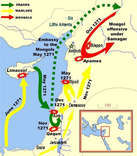 the crusades map ninth crusade