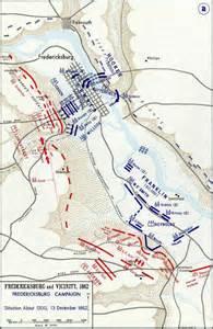 fredericksburg map the battle of fredericksburg