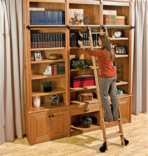 rockler combines style  strength   library ladder