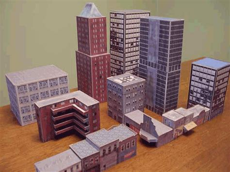 How To Make A City With Paper - model buildings for your model model buildings